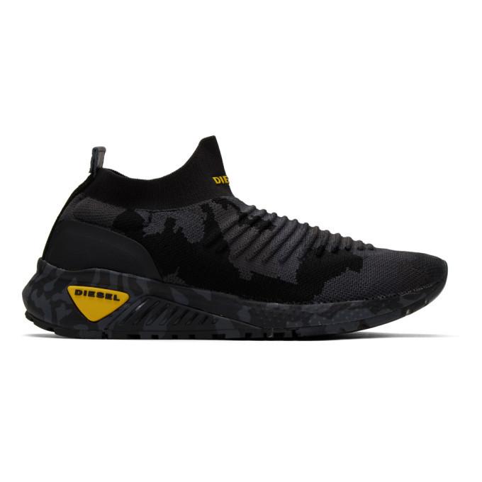 Photo: Diesel Black Camo S-KB Sock Sneakers