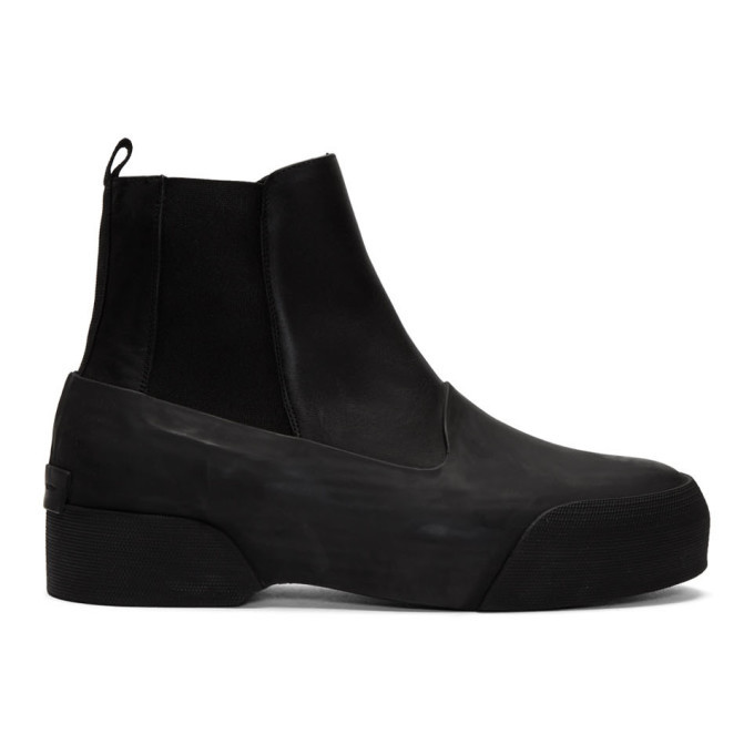 Photo: Dries Van Noten Black Leather and Rubber Chelsea Boots