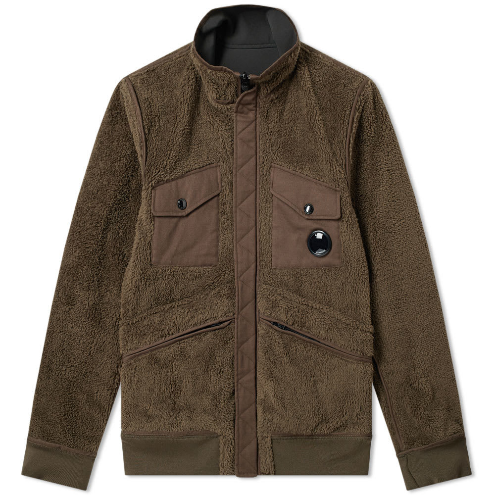 C.P. Company Reversible Fleece Soft Shell Jacket Military