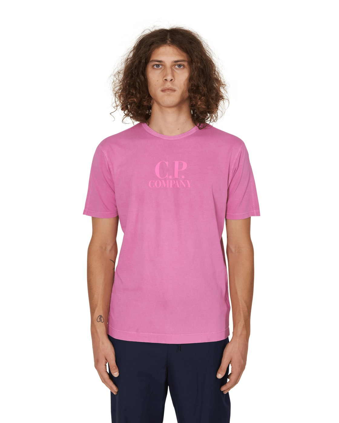 Photo: C.P. Company Logo T Shirt Pink Fluo