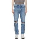 Ksubi Blue Bullet Vibez Trashed Jeans