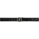 Giorgio Armani Reversible Black Classic Logo Belt