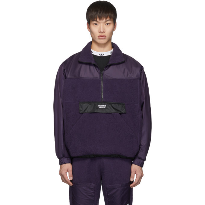 Photo: adidas Originals Purple Vocal Track Pullover