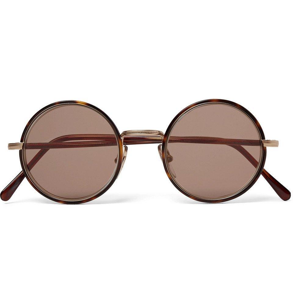Photo: Cutler and Gross - Round-Frame Tortoiseshell Acetate and Gold-Tone Sunglasses - Tortoiseshell