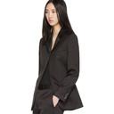 3.1 Phillip Lim Black Satin Single-Button Blazer