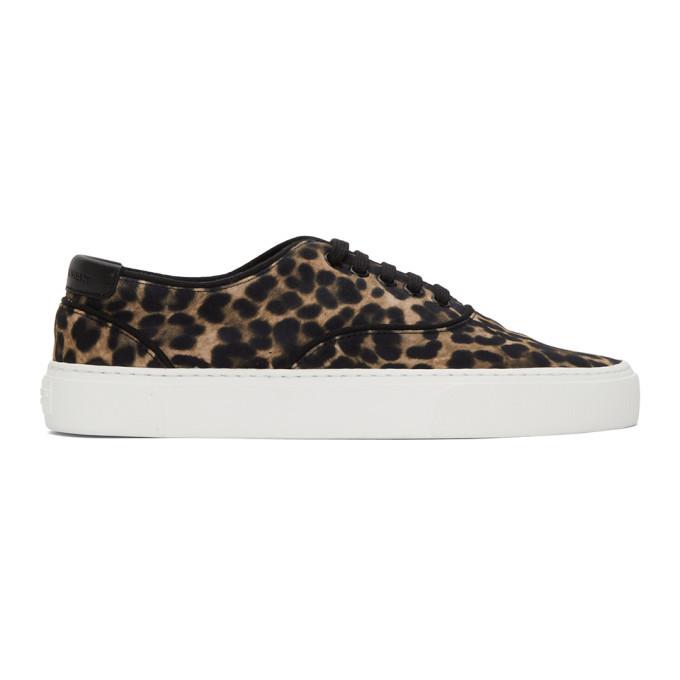 Photo: Saint Laurent Black and Brown Leopard Venice Sneakers