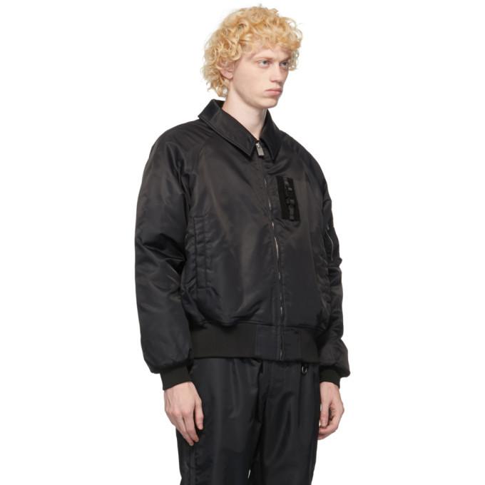 1017 ALYX 9SM Black Insulated Bomber Jacket