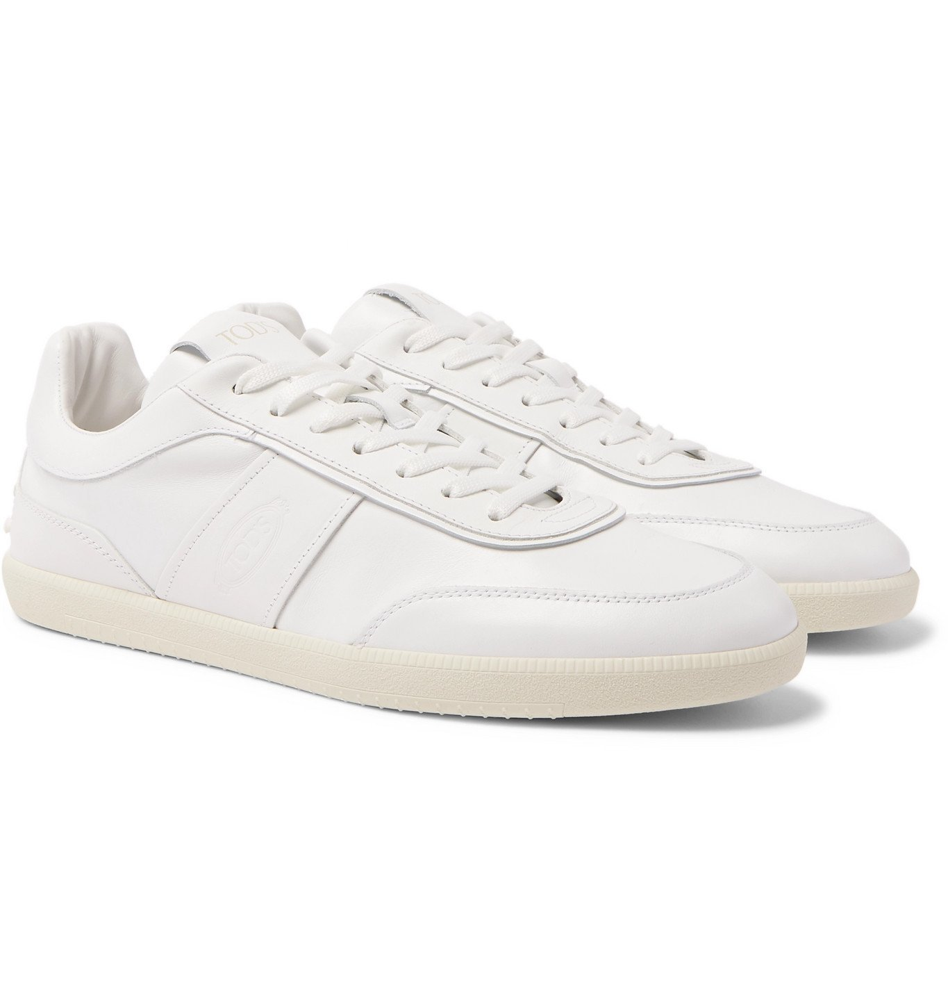 Photo: Tod's - Logo-Debossed Leather Sneakers - White
