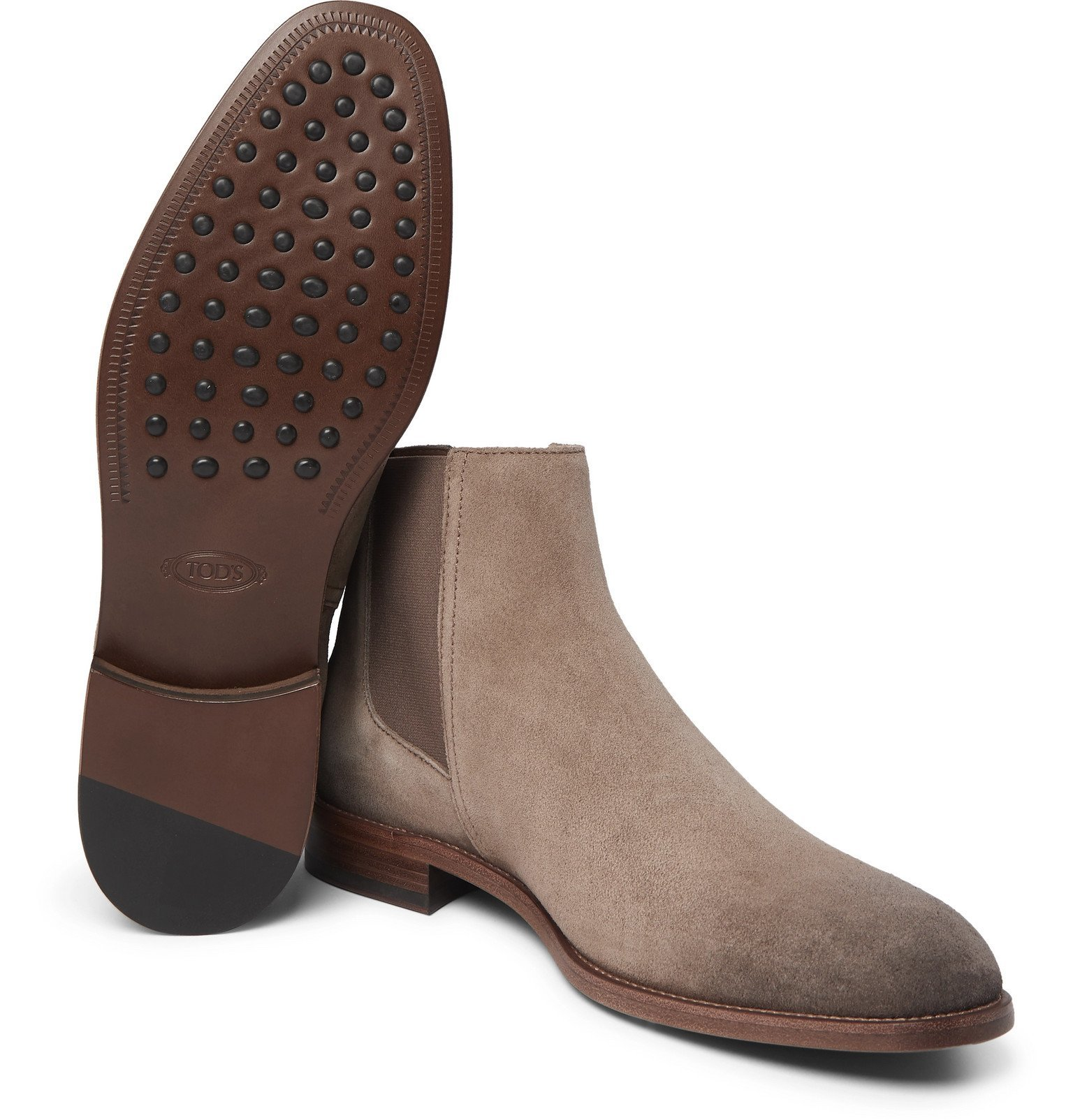 Tod's - Suede Chelsea Boots - Gray