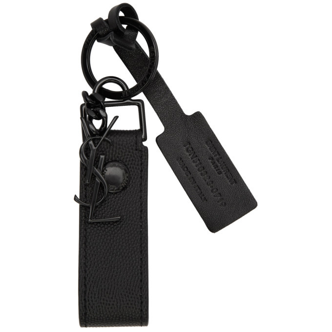 Photo: Saint Laurent Black Monogramme Keychain