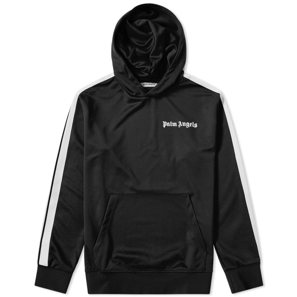 Photo: Palm Angels Taped Track Hoody Black