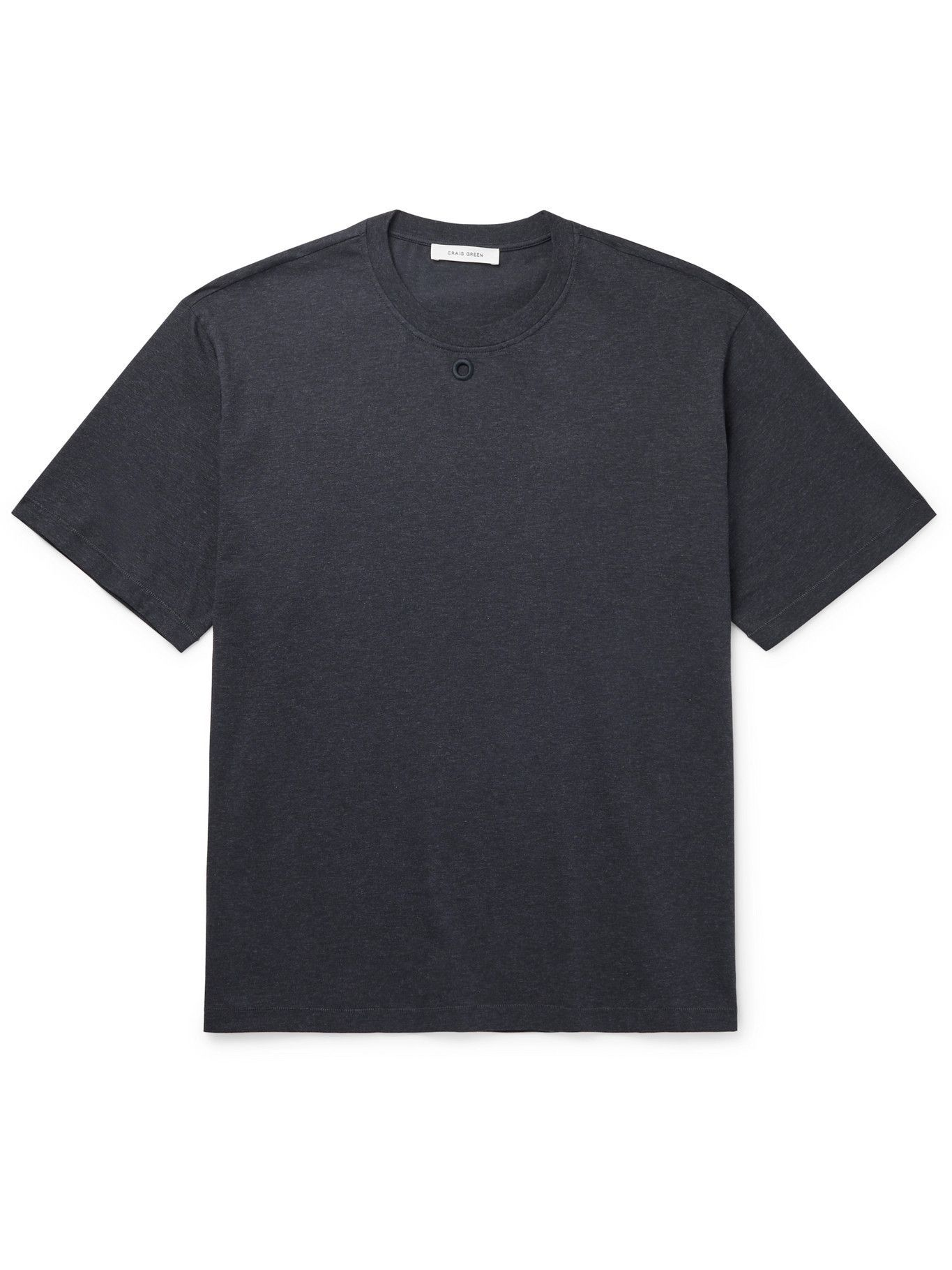 Photo: CRAIG GREEN - Embroidered Cotton-Jersey T-Shirt - Gray