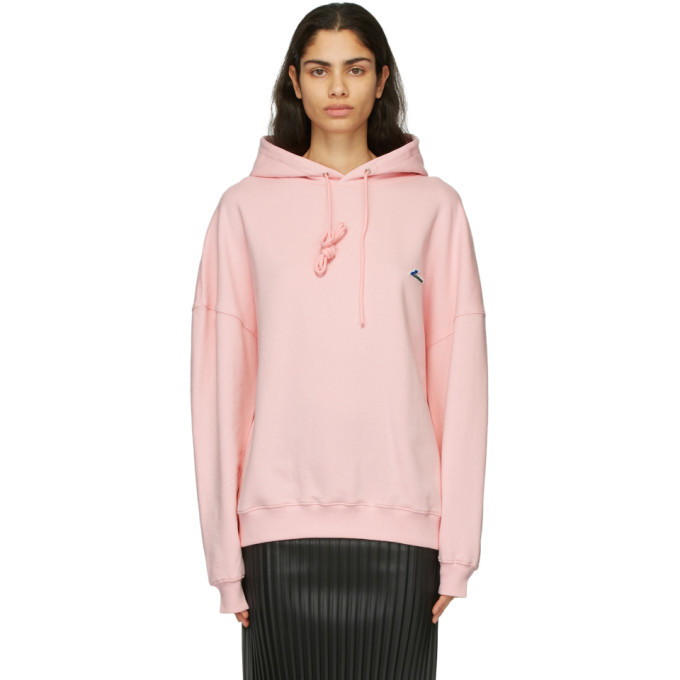 Photo: We11done Pink Embroidered Logo Hoodie