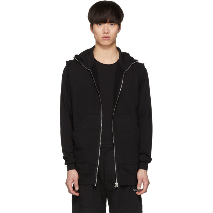 Photo: Rick Owens Drkshdw Black Gimp Sleeveless Hoodie