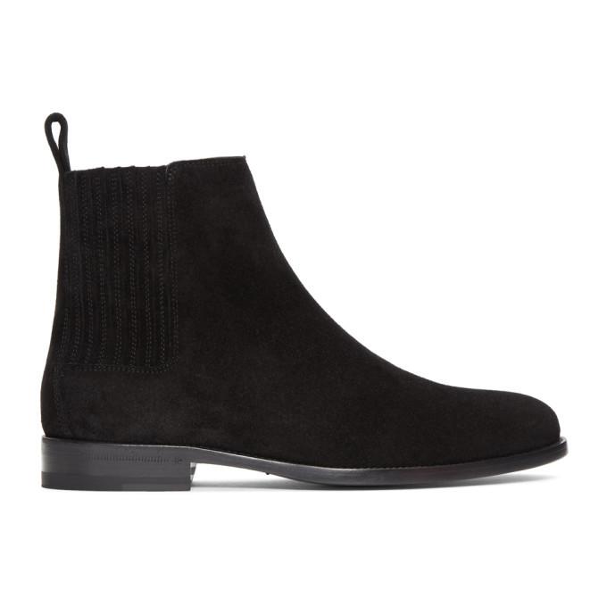 Photo: Saint Laurent Black Suede Dare Chelsea Boots
