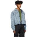 GmbH Blue Denim Lazered Nettle Jacket