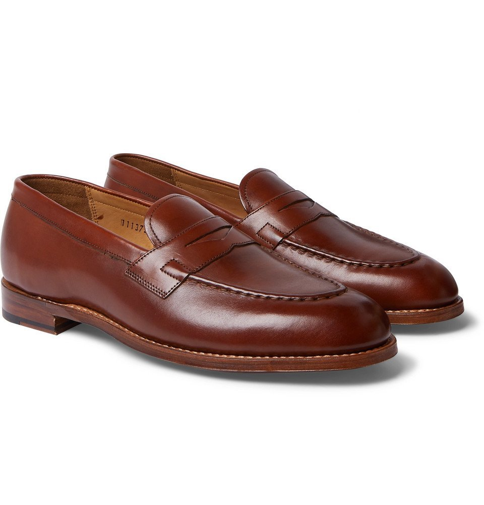 Photo: Grenson - Lloyd Leather Penny Loafers - Brown