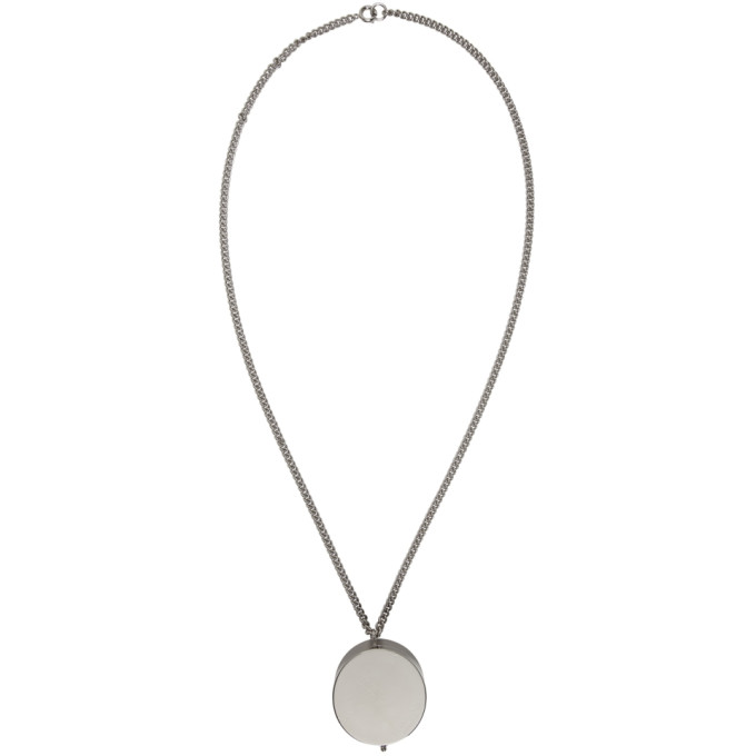 Photo: Vetements Silver Monogram Grinder Necklace