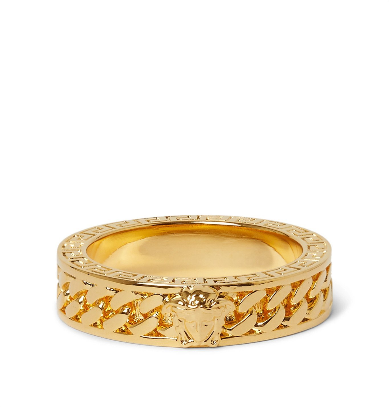 Photo: Versace - Gold-Tone Ring - Gold