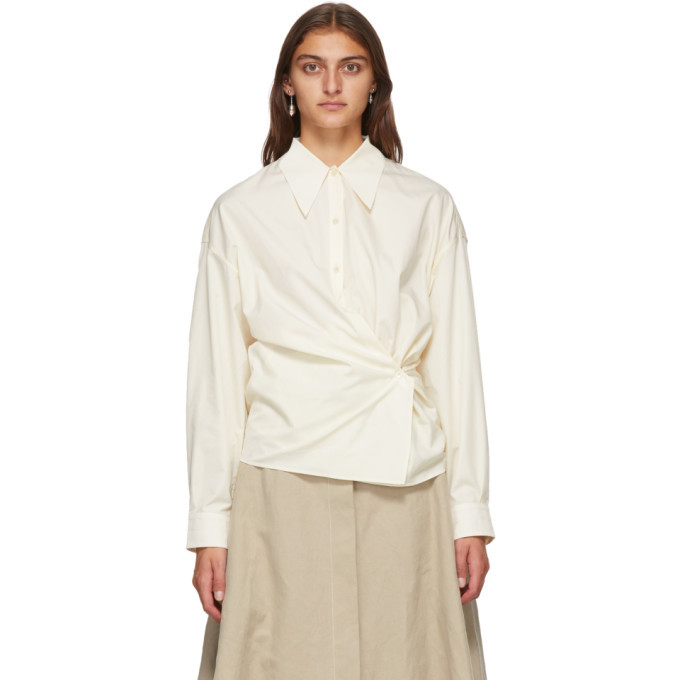 Photo: Lemaire Off-White Twisted Shirt