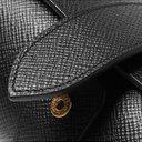 Smythson - Panama Cross-Grain Leather Watch Roll - Black