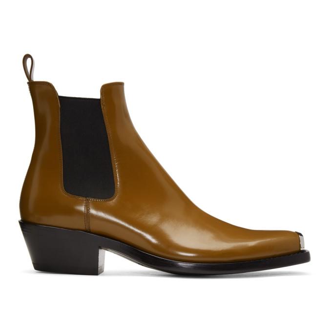 Photo: Calvin Klein 205W39NYC Tan Western Chris Boots