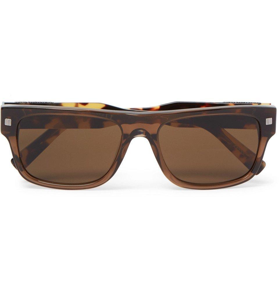 Photo: Ermenegildo Zegna - Square-Frame Tortoiseshell Acetate Sunglasses - Tortoiseshell
