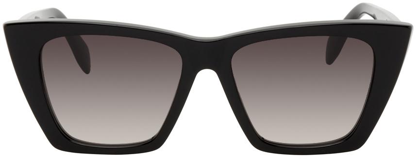 Photo: Alexander McQueen Black Cat-Eye Sunglasses