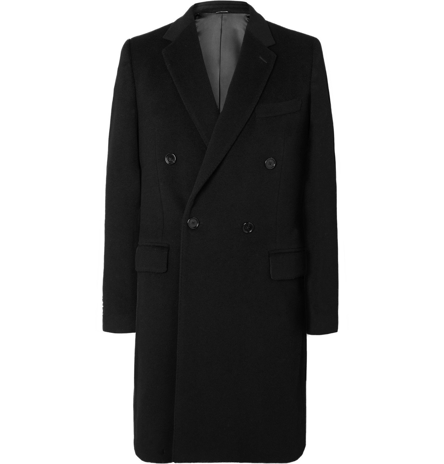 Photo: Dolce & Gabbana - Wool and Cashmere-Blend Coat - Black