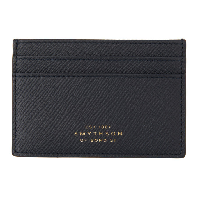 Photo: Smythson Navy Panama Card Holder