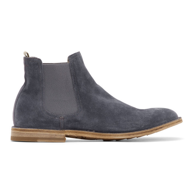 Photo: Officine Creative Blue Steple 5 Chelsea Boots