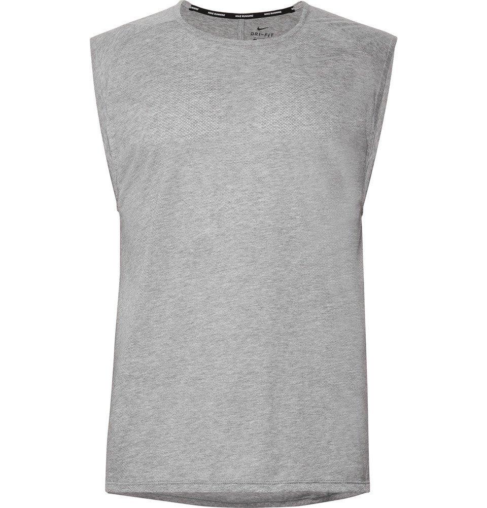 Nike Running - Rise 365 Breathe Dri-FIT Tank Top - Men - Gray