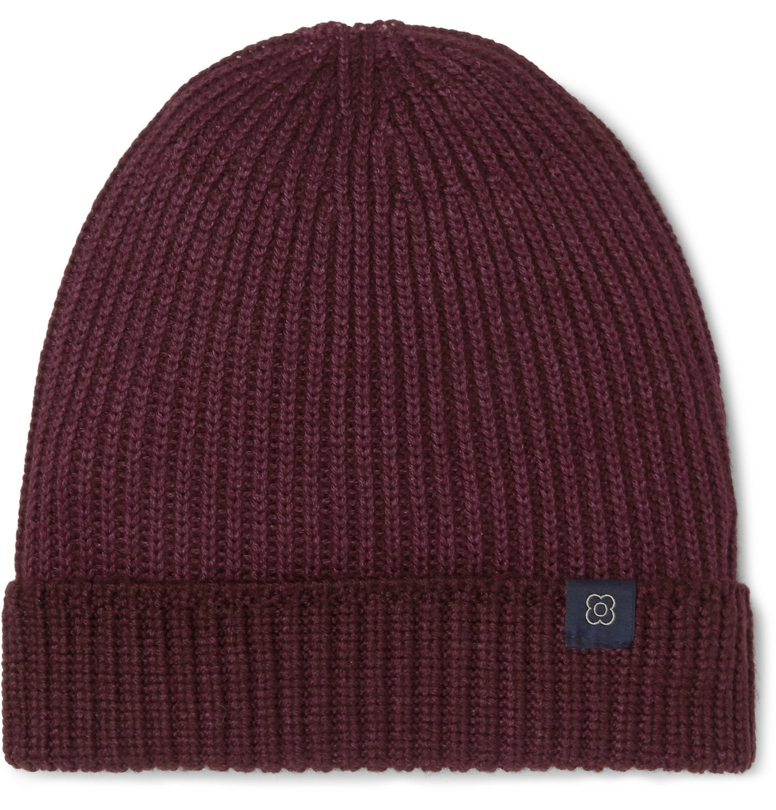 Photo: Lardini - Ribbed Wool Beanie - Burgundy