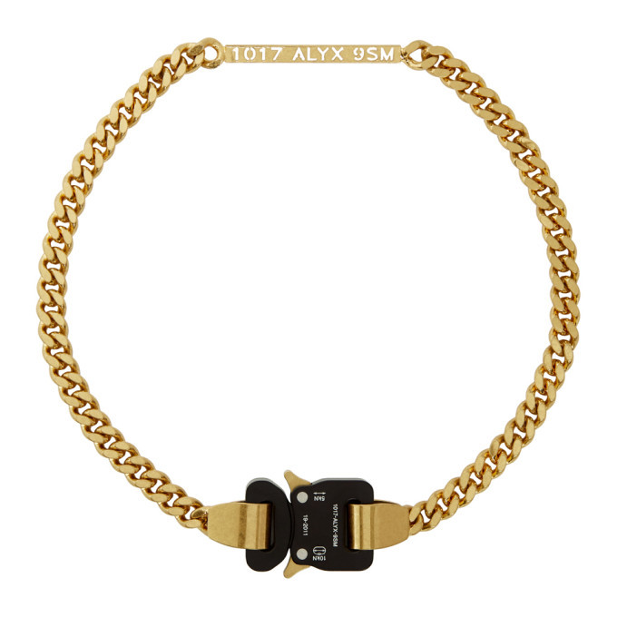 Photo: 1017 ALYX 9SM Gold Buckle ID Necklace