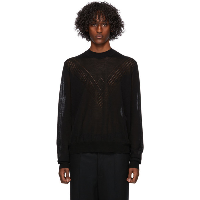 Photo: Jil Sander Black Wool Sweater