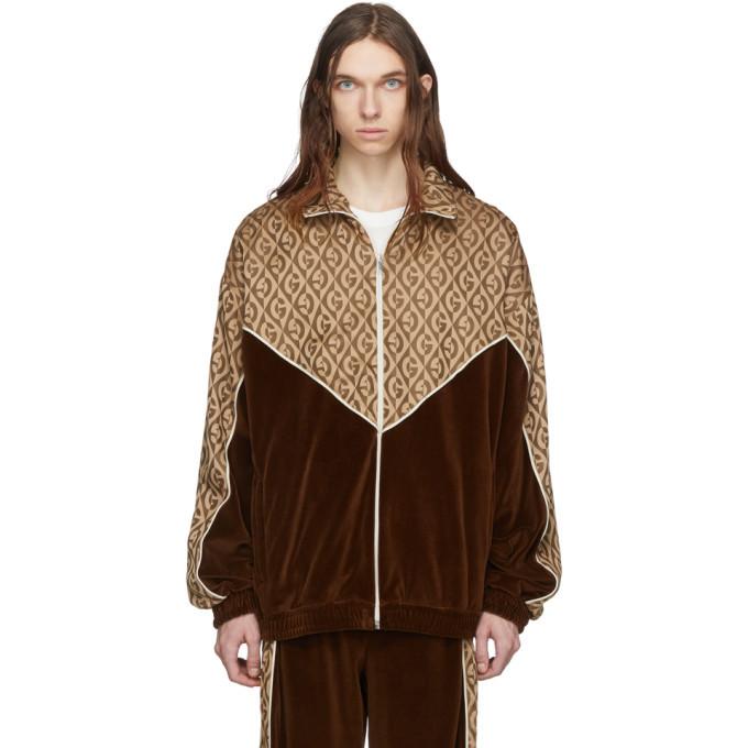 Photo: Gucci Brown Logo Track Jacket