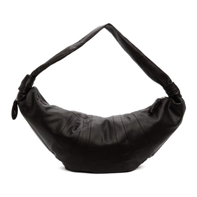 Photo: Lemaire Brown Grained Giant Croissant Bag