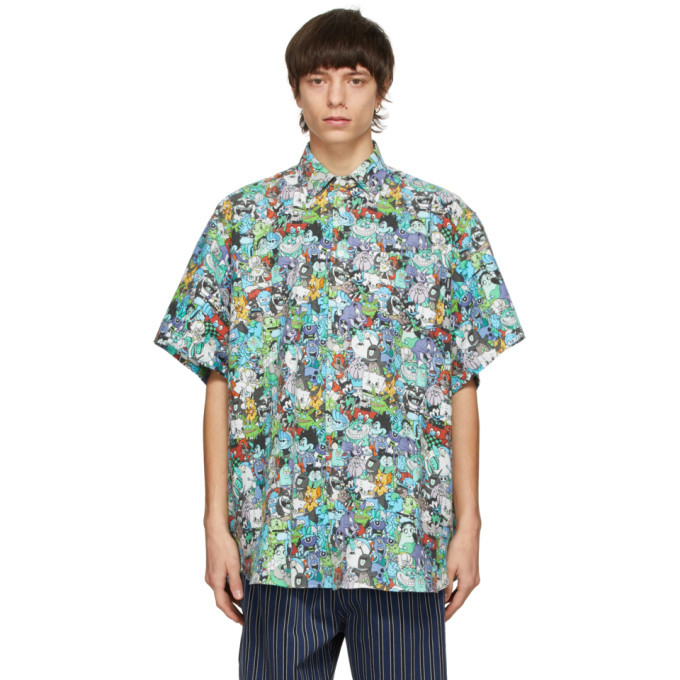 Photo: VETEMENTS Multicolor Cartoon Mania Short Sleeve Shirt