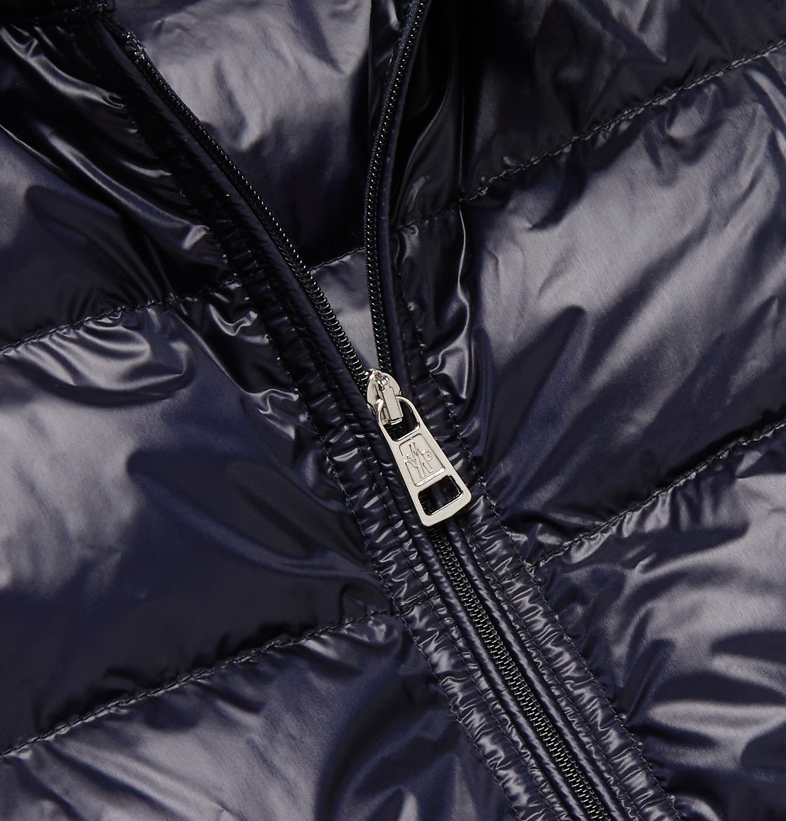 Moncler - Slim-Fit Quilted Shell Down Gilet - Blue