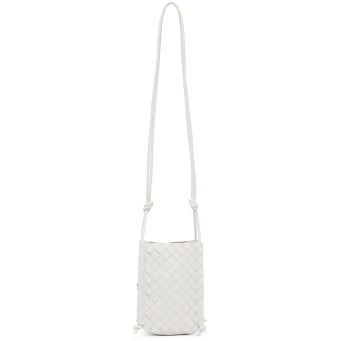 Photo: Bottega Veneta White The Mini Knot Bag