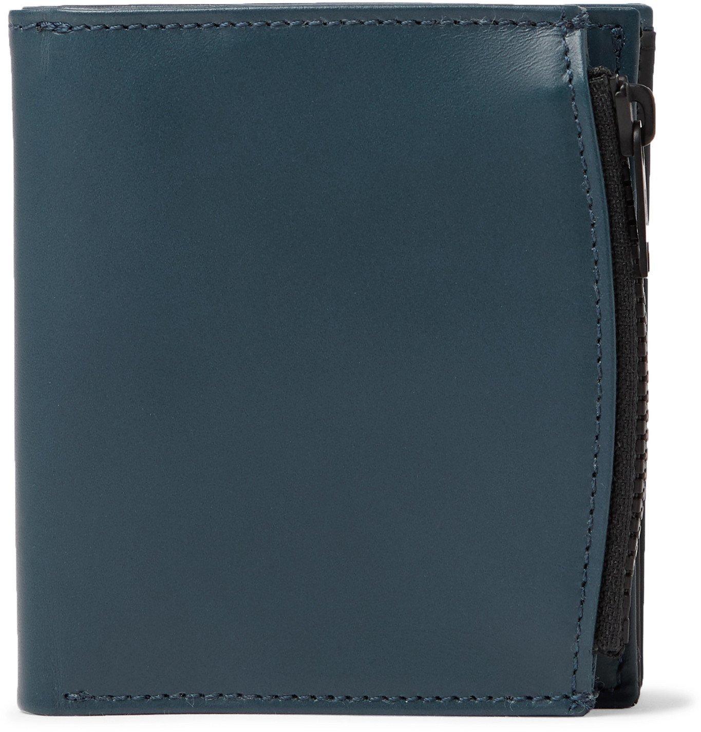 Photo: Maison Margiela - Colour-Block Leather Trifold Wallet - Blue