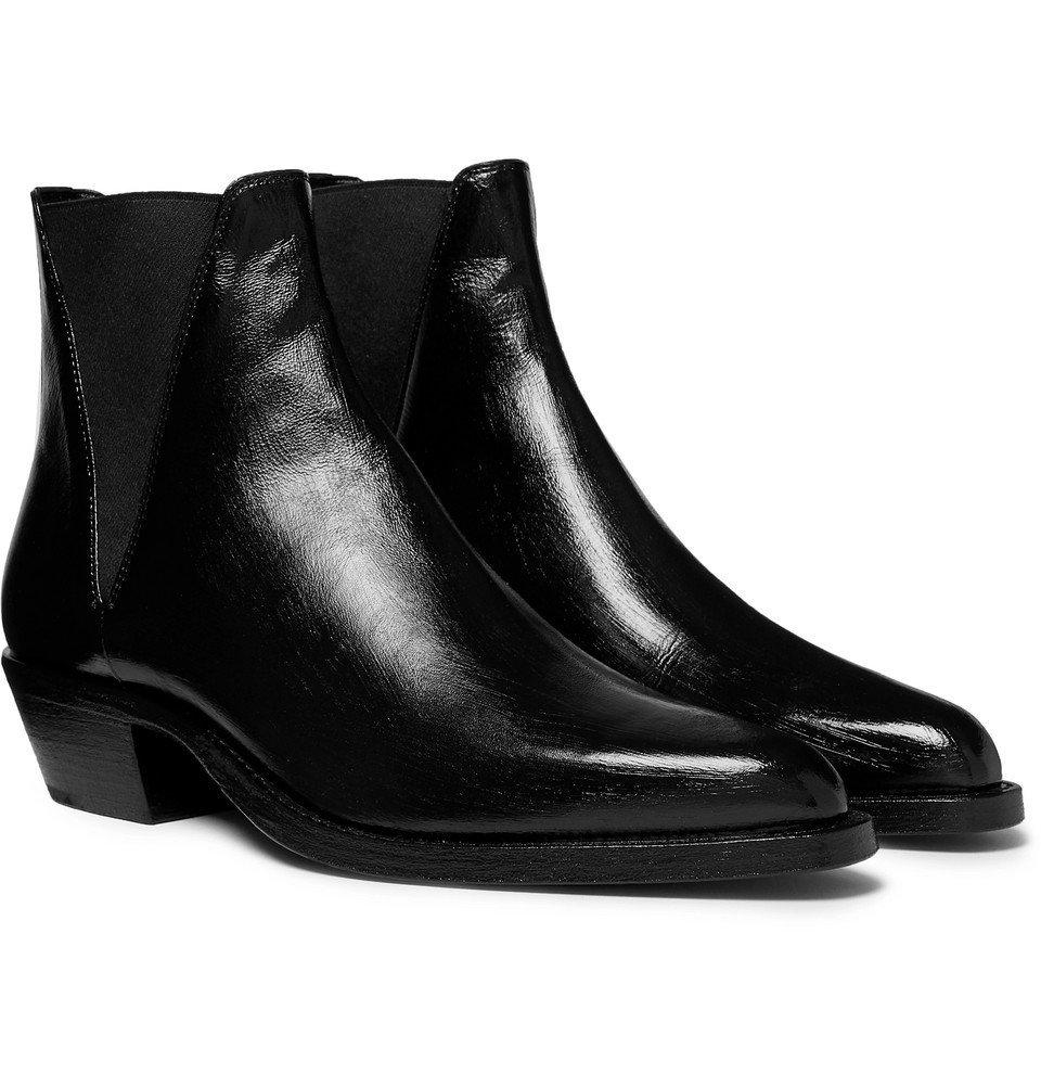 Photo: Saint Laurent - Dakota Polished-Leather Chelsea Boots - Black