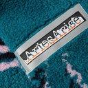 Aries - Oversized Fleece-Jacquard Hoodie - Blue