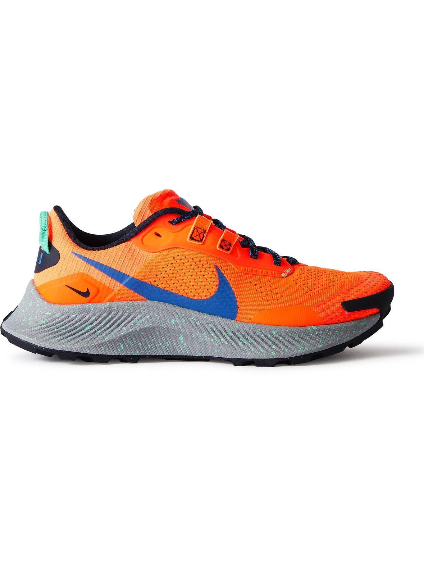 Photo: Nike Running - Pegasus Trail 3 Mesh and Rubber Running Sneakers - Orange
