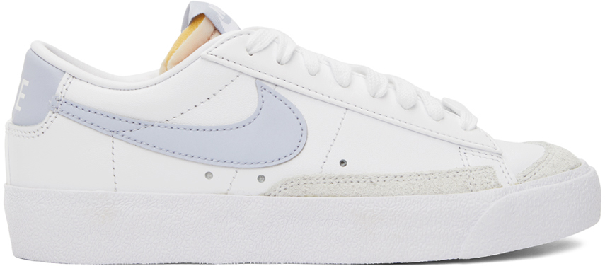 Photo: Nike White & Taupe Blazer Low '77 Sneakers