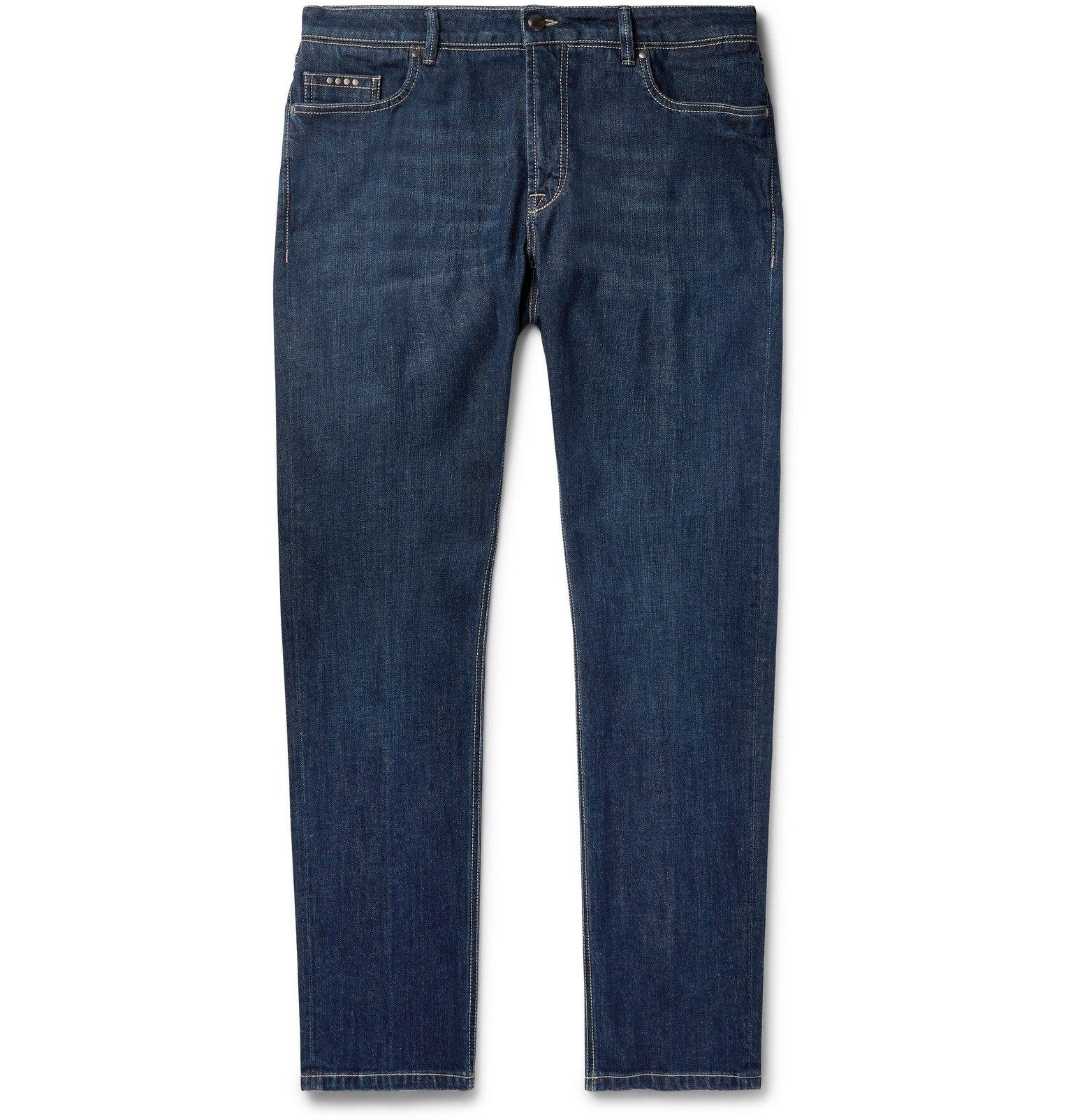Photo: Tod's - Slim-Fit Stretch-Denim Jeans - Blue