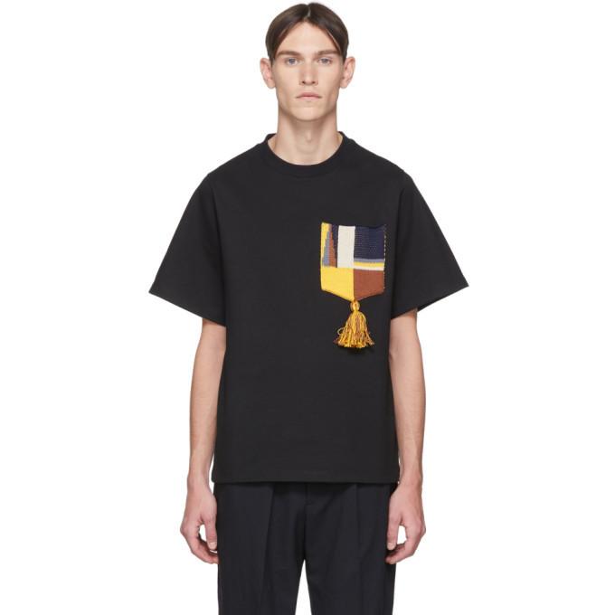 Photo: Jil Sander Black Pocket Tassel T-Shirt