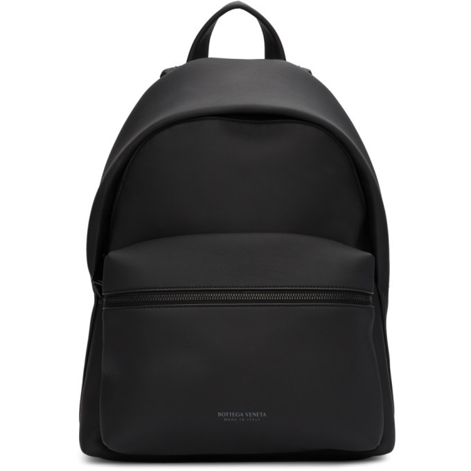 Photo: Bottega Veneta Black Matte Medium Backpack