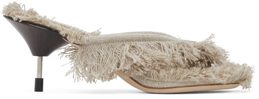 Photo: Acne Studios Beige Linen Heeled Sandals