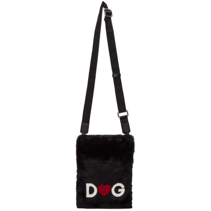 Photo: Dolce and Gabbana Black Fuzzy Crossbody Bag